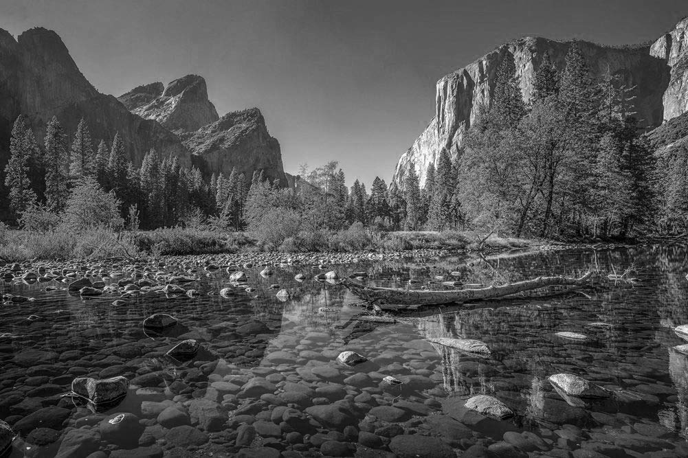 Amazon Co Jp Yosemite National Park Wallpaper Nature Wallpaper 41466 Black And White Canvas Sticker Print Wallpaper Poster Removable Sticker Photo Oversized Painting Wall Decor 30 X20 Home Kitchen