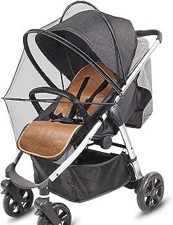 Universal Insektenschutz,Mückennetz für Kinderwagen & Buggy,Vollständige Abdeckung,Verschlüsseltes Netz mit Ständer und Reißverschluss