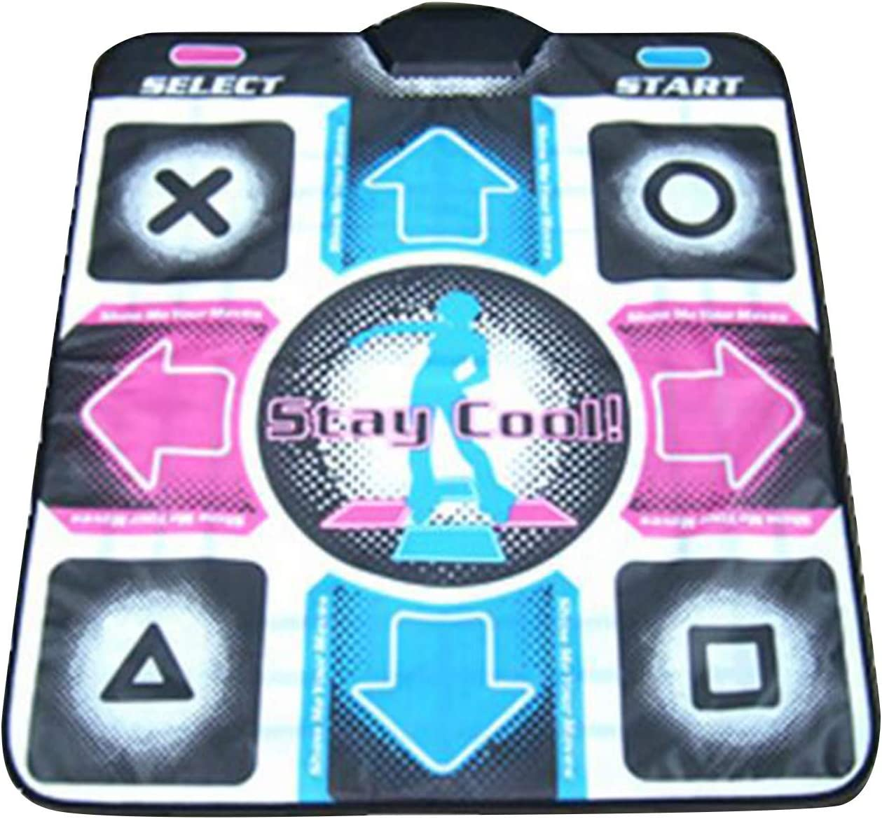 Wireless Dancer Step Pads with 200 Dances Music and 68 Games Dance Mat Game for Kids /& Adults High Elasticity and Sensitivity Multi-Function Games /& Levels for PC//TV Double User Dance Mat