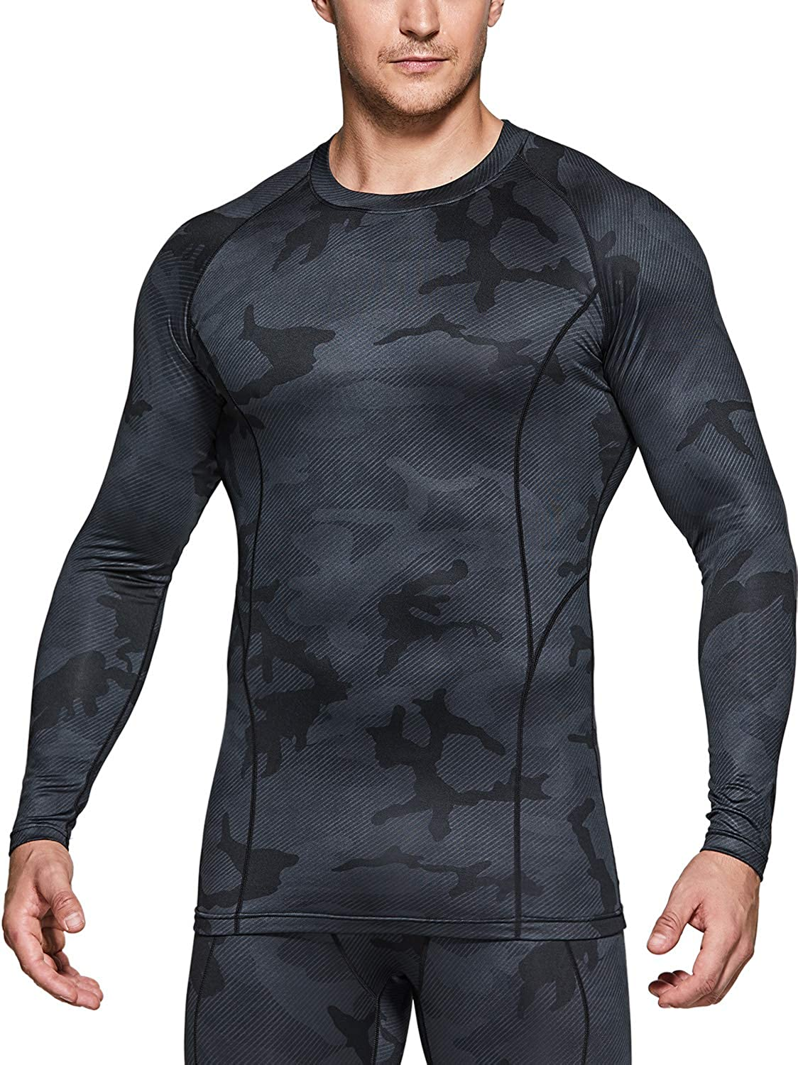 low-pricing TSLA 1 or 2 Selling and selling Pack Men's Shirts Compression A Long Thermal Sleeve