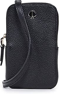 Kate Spade New York Polly North South Phone Crossbody Bag, Black, One Size