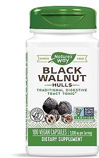 Nature's Way Black Walnut Hulls, 1,000 mg per serving, 100 Vegetarian Caps (Packaging May Vary)