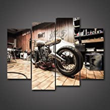 Wall Art C Vintage Motorcycle Art//Canvas Print Poster Home Decor