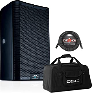 QSC K10.2 10-Inch 2000 Watt Powered Speaker with Tote Bag and XLR Cable