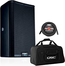 QSC K8.2 8-Inch 2000 Watt Powered Speaker with Tote Bag and XLR Cable