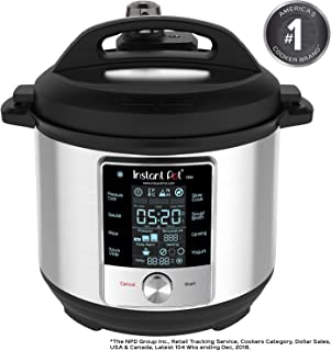 Instant Pot 60 Max 6 Quart Multi-use Electric Cooker with 15psi Pressure Cooking, Sous Vide, Auto Steam Release Control and Touch Screen, Silver (Renewed)