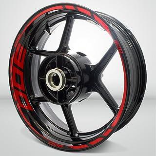 Gloss Red Motorcycle Rim Wheel Decal Accessory Sticker for Kawasaki Ninja 300