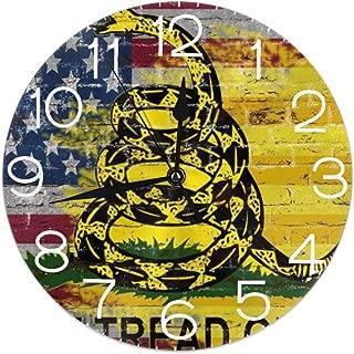 Hi Joker Dont Tread On Me American Flag Wall Clocks Desk Shelf Clocks Stylish Oil Painting Clock Quiet Digital Clock Indoor Decorations