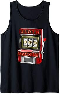 Sloth Machine   Cute Slot Machine Arcade Gamblers Funny Gift Tank Top