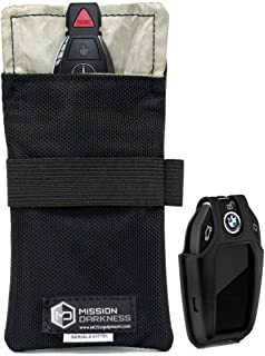 """Mission Darkness Faraday Bag for Keyfobs // Device Shielding for Smart """"Always On"""" Keyfobs for Automobile Owners, Law Enfo..."""