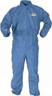 Kleenguard Chemical Resistant Suit, A60 Bloodborne Pathogen & Chemical Splash Protection Coveralls (45003), Large, Blue, 24 Garments/Case