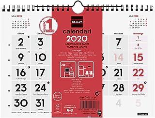 Calendario Agosto 2019 Numeros Grandes.Amazon Es Calendario De Pared Numeros Grandes