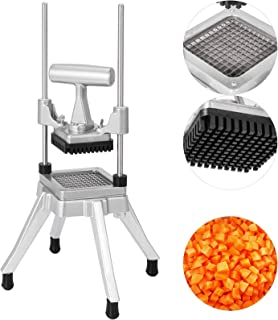 Happybuy Commercial Vegetable Fruit Dicer 0.25 inches Blade Commercial Easy Chopper Dicer kattex chopper Stainless Steel for Onion Tomato Peppers Potatoes Mushrooms