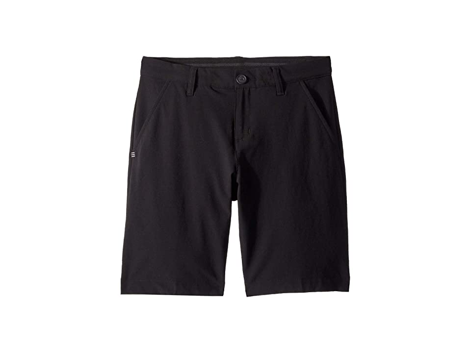Image of adidas Golf Kids Solid Golf Shorts (Little Kids/Big Kids) (Black) Boy's Shorts