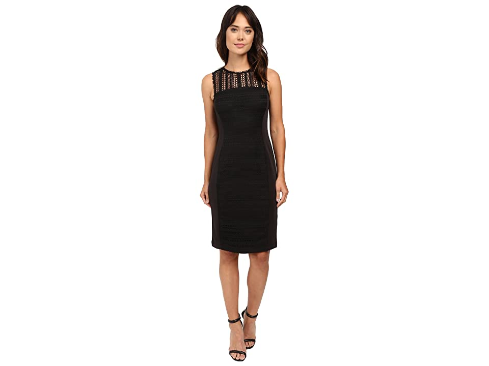 Taylor Lace/Scuba Dress (Black) Women