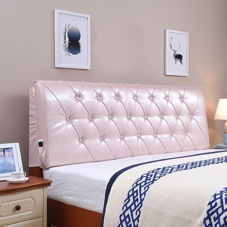 JIMI-I Coussin doux de dossier de lit continental grand coussin de couverture d'oreiller de coussin de dossier double lavable (Couleur   lumière rose, taille   150  60cm(no Bedside))