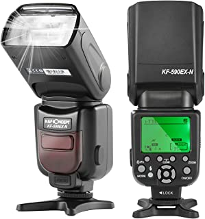 K&F Concept® カメラフラッシュ ストロボ TTL機能対応 Nikon/Canonデジタル一眼レフカメラに対応 KF590EX-N