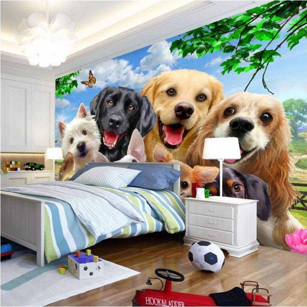 Amazon Lcymt 壁画の壁紙 カスタム写真の壁紙3d立体かわいい犬の写真の寝室のリビングルームのテレビの背景の壁の壁画の壁紙 200x140cm 壁紙