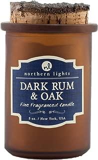 Northern Lights Candles Spirit Jar Candle, 5 oz, Dark Rum and Oak