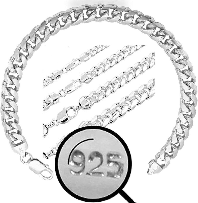 毎日激安特売で 営業中です Harlembling Real Solid 925 Sterling Brac Cuban Miami Silver [並行輸入品] Link