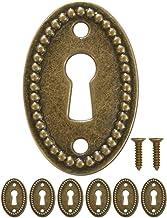 FUXXER® - 6x antieke ovale sleutelborden, slot-rozetten, slot-beslag, afdekking voor sloten, sleutelgat, vintage messing d...