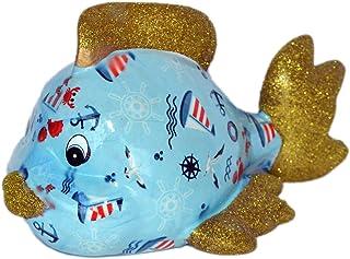 Pomme Pidou Skarbonka ryba, niebieska, latarnia morska, skarbonka, prezent na pieniądze