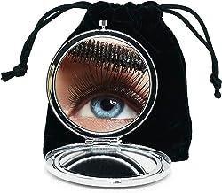 Specchietto Tascabile per Donne per Bambina Specchietto Tascabile Piccolo Ingranditore Trucco Compatto Doppio Specchio Ceramica Cinese Tradizionale Borsa da Viaggio di Design Specchietto
