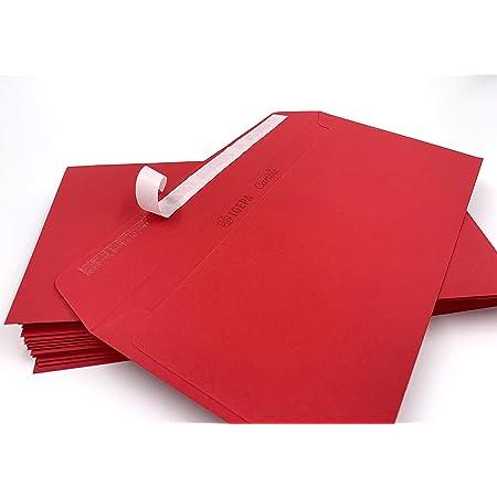 100 g//mq 25 buste per lettera C6 = 162 x 114 mm di Elco colore: rosso rosso intensivo con strip adesivo C6