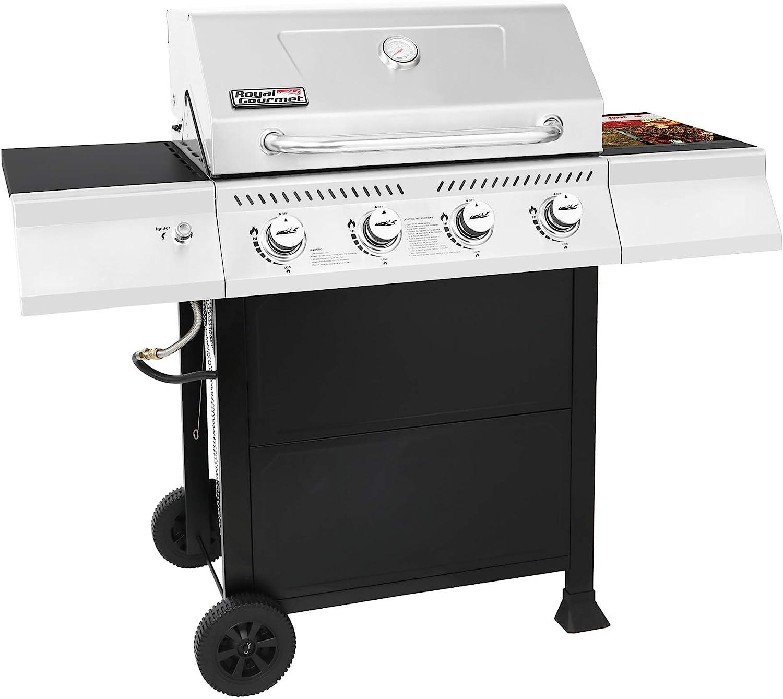 Royal Gourmet GA4400T Stainless Steel 4-Burner BBQ Liquid Propane Gas Grill