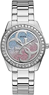GUESS Women's Japanese Quartz Watch with Stainless-Steel Strap, Silver, 20 (Model: U1201L1)