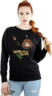 HARRY POTTER Mujer Hermione Granger Wingardium Leviosa Junior Camisa De Entrenamiento Large Negro
