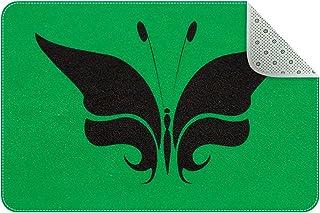 Doormat Custom Indoor Welcome Door Mat, Green Butterfly Home Decorative Entry Rug Garden/Kitchen/Bedroom Mat Non-Slip Rubb...