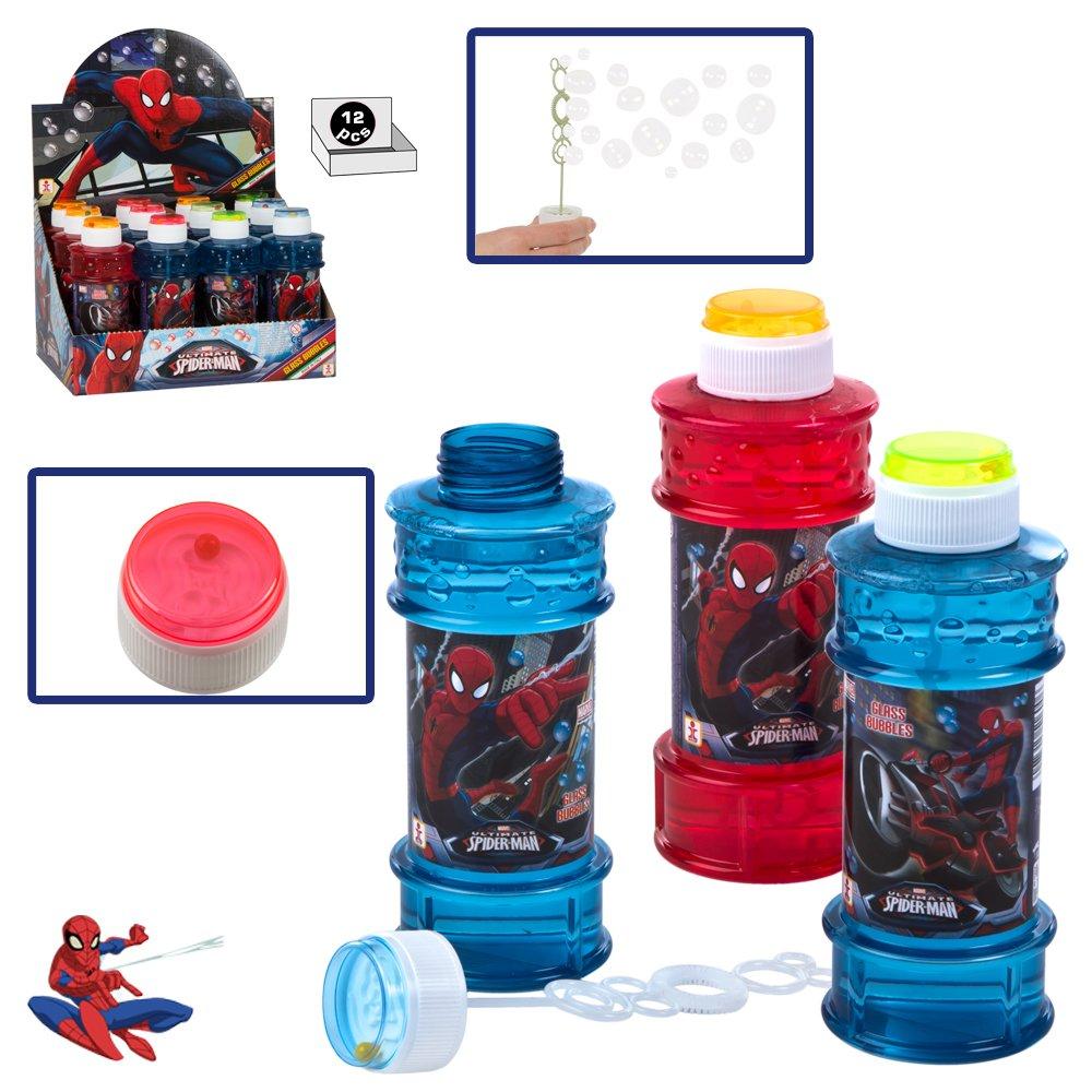 ColorBaby - Caja pomperos Spiderman con 12 Unidades de 300 ml (24231): Amazon.es: Juguetes y juegos