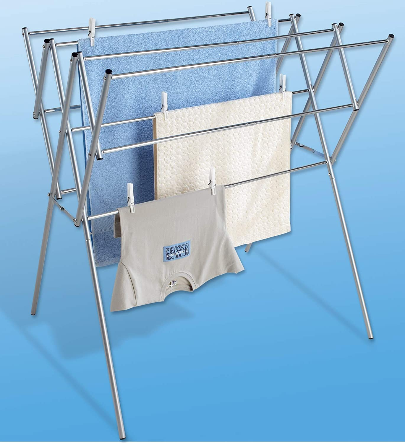 WENKO 3774017500 Telescopic Laundry Stainless 54-9 A surprise price Over item handling ☆ is realized Steel Dryer