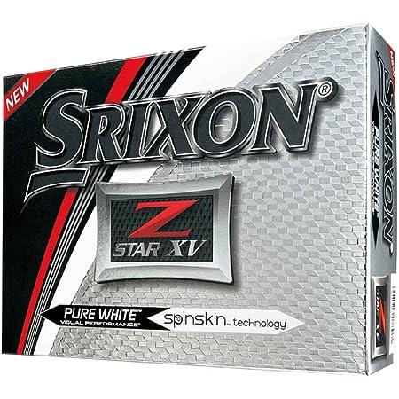 SRIXON(スリクソン) ゴルフボール Z-Star XV Z-Star XV (ゼットスター エックスブイ) ゴルフボール 2017年モデル 4ピース構造 並行輸入品 (1ダース) ホワイト