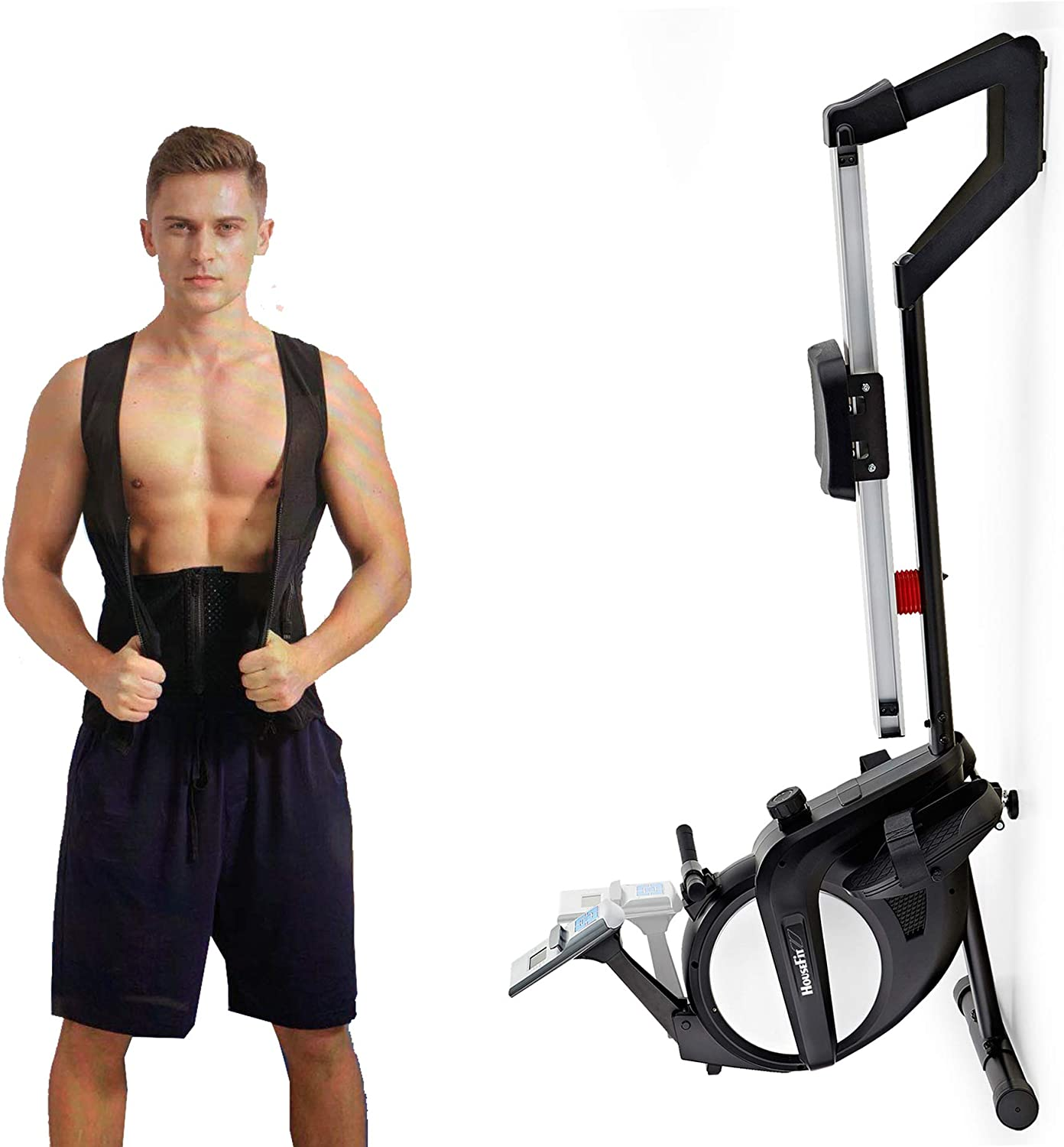 HouseFit Rowing Machine 300Lbs Weight All stores are sold for Capacity 15-L use Online limited product Home