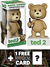 Talking Ted: Ted 2 x Wacky Wobblers Bobble Head Figure + 1 FREE Official Hollywood themed Trading Card Bundle [59101]