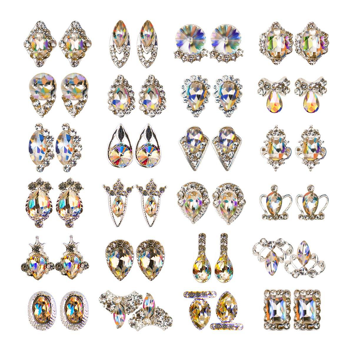 48pcs Nail Crystal Max 73% OFF Bargain sale AB Rhinestones Gem Diamonds Metal Glass