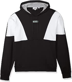 Men's Sport Long Sleeve Color Blocked Pull Over Hoodie Fleece