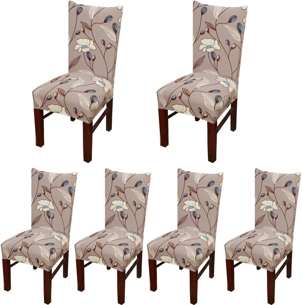 SoulFeel 6 x New sales Soft Stretchable Dining with Printed Super Special SALE held Covers F Chair