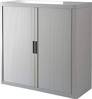 Paperflow Armoire à rideaux EASYOFFICE - 4 tablettes, hauteur 2040 mm - gris/gris - armoire armoire de bureau armoire pour...