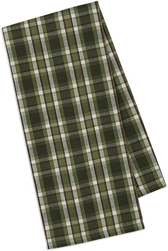 Design Imports Mountain Pine Cotton Table Linens Dishtowel 18 Inch By 28 Inch Cascade Plaid
