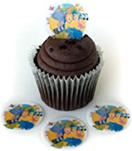 Noah's Ark Animals Wafer Paper Toppers 1.5 Inch for Decorating Desserts Cupcakes Birthday Cakes Cookies Pack of 12