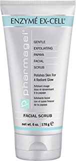 Pharmagel Enzyme Ex-Cell Gentle Exfoliating Facial Scrub | Facial Cleanser to Smooth and Brighten All Skin Types - 6 oz
