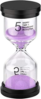 KSMA Sand Timer 5 Minute Hourglass Timer,Colorful Sandglass Timer for Kids,Classroom,Kitchen,Games,Toothbrush Timer