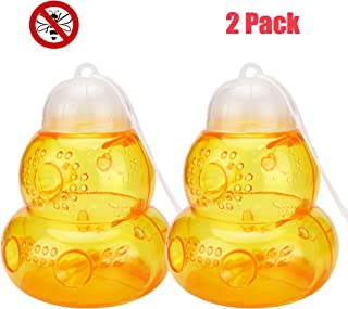 MUCH Wasp Traps Jar Hornet Yellow Jacket Bees Beehive Catcher Plastic Non-Toxic Honey Pot (2 Pack)