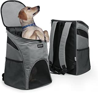 Becko 3 in 1 Scratch-Resistant Pets Bag Carrier/Padded Pet Outdoor Backpack/Dog Travel Single-Shoulder Bag with Mesh Window and Tuck Away Straps for Pet up to 10~18 Pounds