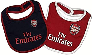 Arsenal FC Bibs - Set of 2 - Bibs feature Gunners team colors and crest - Great for the Little Arsenal FC Fan - One Bib is Red, One Bib is Yellow - Arsenal FC Soccer - Official Arsenal Product