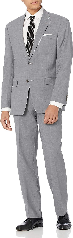 Tommy Hilfiger Men's Vasser Light Gray 2 Button Side Vent Suit