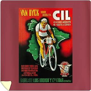 Lantern Press Bicycle Racing Vintage Poster 41254 (88x88 Queen Microfiber Duvet Cover)